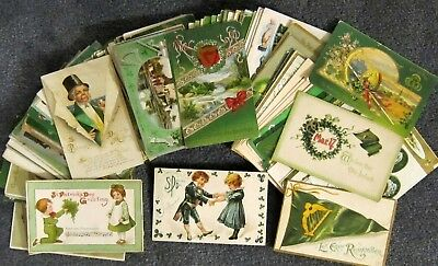 HUGE LOT of 120+ Vintage Irish All ST PATRICK'S Day Holiday Postcards!