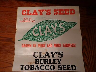 Antique Seed / Tobacco Sign (Vintage seed / Tobacco Seed Sign)
