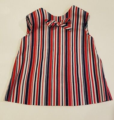 Vtg stripe mod girls toddler tank top tunic shirt shift dress size 2 3 4 retro