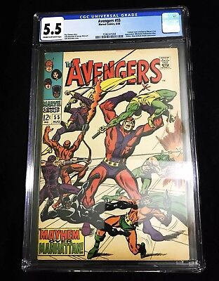 The Avengers #55 (Aug 1968, Marvel)- 1st app of Ultron- CGC 5.5 - No Reserve