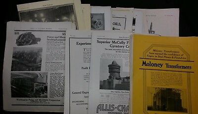 Vintage AD LOT 180+ 1918 - 29  INDUSTRIAL MINING EXCAVATING ELECTRICAL MAG ADS