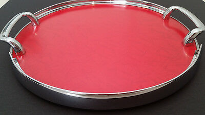 50s RETRO TRAY, 1 OF THE BEST. CHECKOUT THE RED LAMINEX. VERY GOOD CONDITION