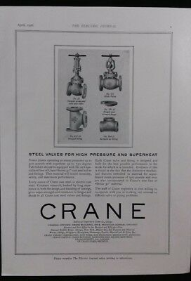 Vintage Ad 1920's CRANE VALVES & NEW DEPARTURE BALL BEARINGS     #7