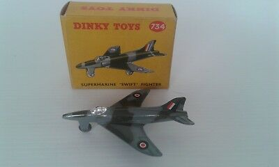 VINTAGE DINKY TOYS Original 734 Supermarine Swift Fighter - BOXED
