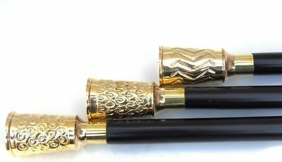 High Quality 3 pcs Best Offer Solid Brass Walking Cane Nautical Walking Stick