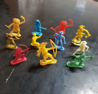 KELLOGGS CEREAL TOYS 1959 WILD WEST COWBOYS AND INDIANS x 11
