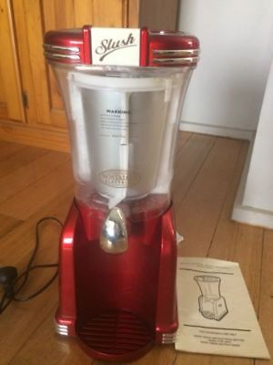 Retro Slushie Maker With Manual..Hardly Used