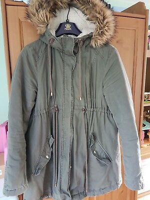 H&M Mama Maternity Parka coat Medium Khaki