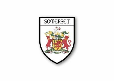 Sticker county shield car vinyl souvenir decal flag caravan crest somerset r2