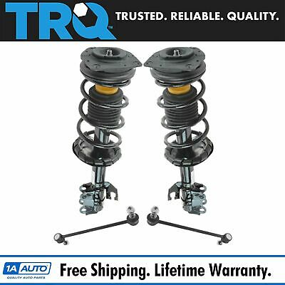 4 Piece Suspension Kit Strut & Spring Assemblies w/ Sway Bar End Links for Versa