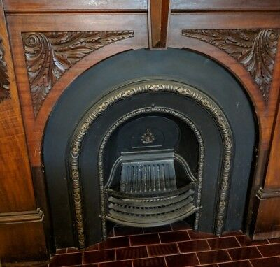 VICTORIAN EDWARDIAN Cast Iron Fireplace Insert