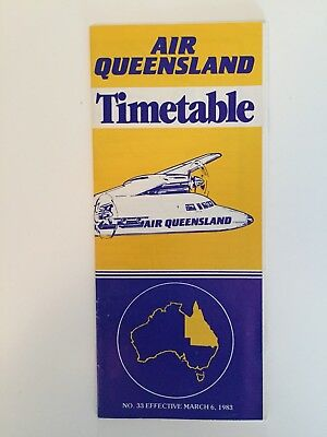 Air Queensland Timetable March 1983