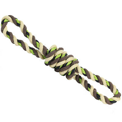 Me & My Pets Dog/Puppy Pull Toy Braided Army Tug of War Knotted Rope Chew Toys