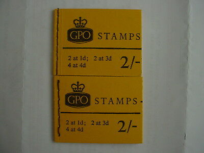 GB   GPO   2 x 2/-   books 0f stamps   all complete,