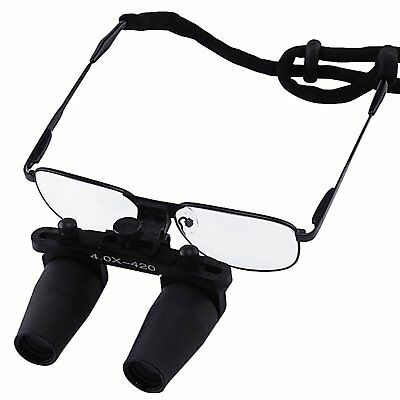 4.0x Magnification Dental Loupes Prismatic Keplerian Style 40mm Depth of Field