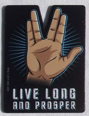 Star Trek Mr Spock Enterprise LIVE LONG AND PROSPER Magnet Magnetschild