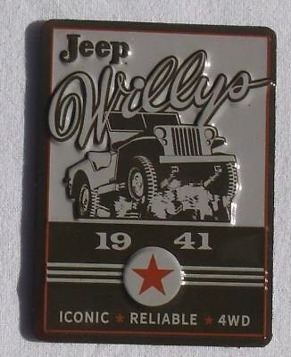 Willys Army Jeep 1941 - USA Metall Magnet Schild