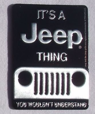 Jeep Thing Kühler Front - USA Metall Magnet Schild