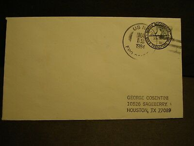SS MORMAC STAR, MOORE-McCORMACK Lines Naval Cover 1984 SIGNED Cachet