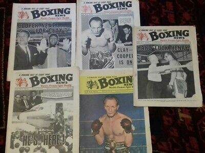 5 X Boxing News Magazines , Cassius Clay V Henry Cooper , Great Covers 1966