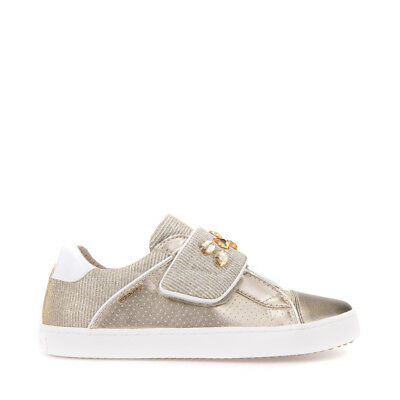 GEOX SHOES BABY Girl Sneakers Suede and Canvas Beige with