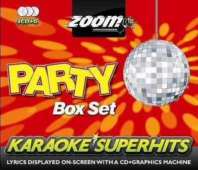 Zoom Karaoke Superhits Party Box Set 3 Disc Set CD + G New Sealed