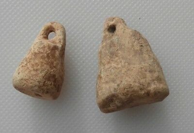 Collectable Lot Of 2 Medieval Lead Trade Weights