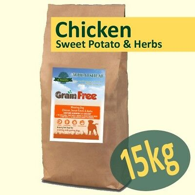 15kg *Grain Free* Working Dog Food CHICKEN, SWEET POTATO & HERBS