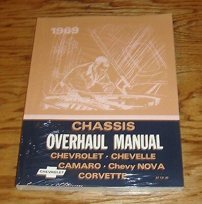 1969 Chevrolet Chassis Overhaul Manual 69 Camaro Corvette Chevelle Nova