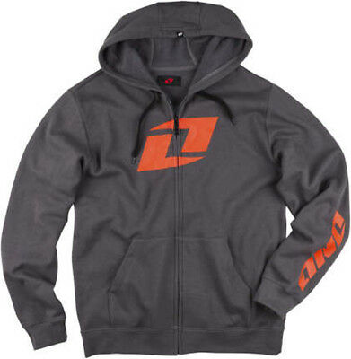 ONE INDUSTRIES YOUTH ICON FULL ZIP HOODIE GREY zipped KIDS sweater motocross