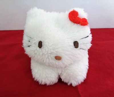 "Vintage Sanrio White Hello Kitty 4"" Rare Plush Toy 1976 Taiwan"