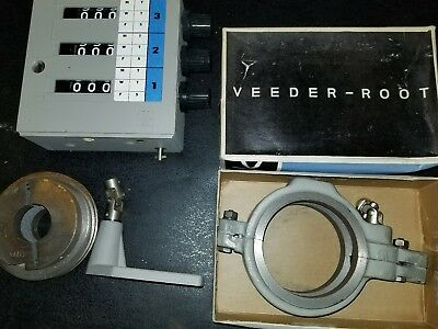 Vintage Veeder Root Counter 3 digit row of 3 industrial NOS
