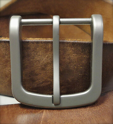 "BURCH LAG 1-1/2"" Solid Titanium Belt Buckle with Sand Blast (Buckle Only)"