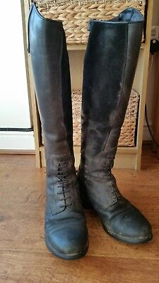 Ariat bromont h20 black insulated waterproof long bootssize 5.5 Uk