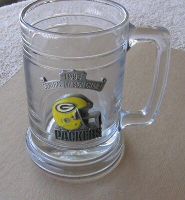 Green Bay Packers 1995 Central Division Champs Beer Mug~Enamel Helmet Pewter