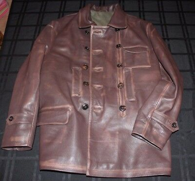 WWI Russian or German pilot's leather flying coat size 42