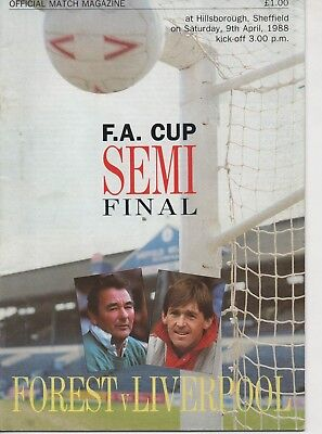 NOTTINGHAM FOREST v LIVERPOOL 09.04.88 F.A.CUP S/F