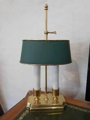 Solid Brass Bouillotte Lamp - French Empire Napoleonic - STUNNING