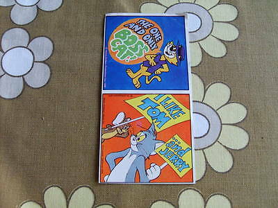 Classic 1980's Top Cat (Boss Cat) and Tom and Jerry Stickers unused