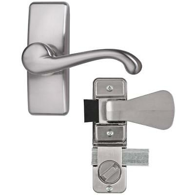 IDEAL Security Satin Nickel Coated Zinc Storm and Screen Door Lever Handle Set