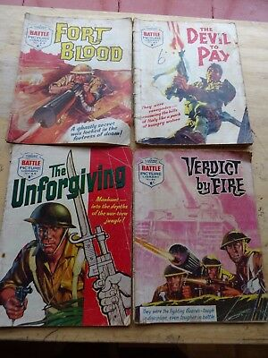 4 Early editions of Battle Picture Library Numbers 22, 41, 45 and 84