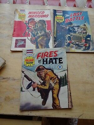3 early editions of Valiant Picture Library Numbers 12, 32 and 73