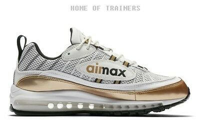 Nike Air Max 98 GMT Pack Metallic Gold White Black Men's Trainers All Sizes