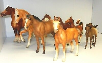 Vintage Breyer Molding Company Ten Horse Set Small To Large Horses  Made In Usa