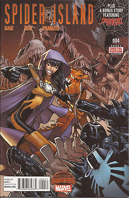 Spider-Island #4 Marvel Secret Wars Battleworld Stegron Venom MC2 Spider-Girl VF