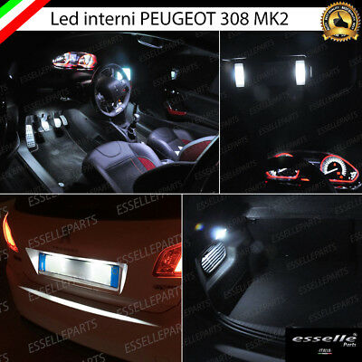 Kit Led Interni Completo Peugeot 308 Ii X Versioni Con Led Di Serie + Luci Targa