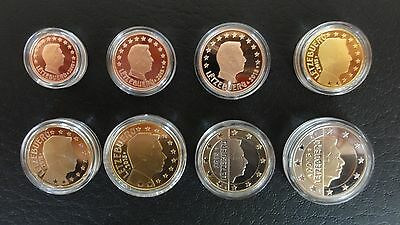 KMS Luxemburg 2015 PP 1 Cent bis 2 Euro Polierte Platte Proof Set 3,88 Euro RAR