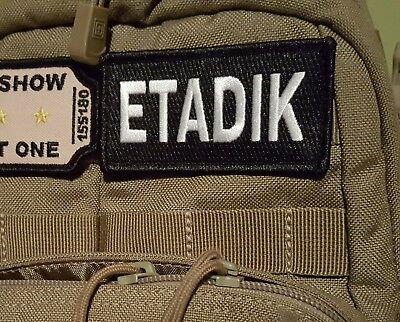 ETADIK Eat A D*ck tactical Morale patch combat  hook and loop military swat