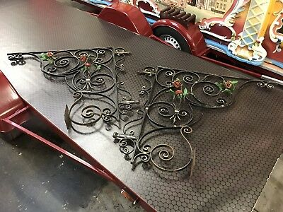 Ornate Decorative Wrought Iron Gallow Bracket Garden Gate Home House Feature