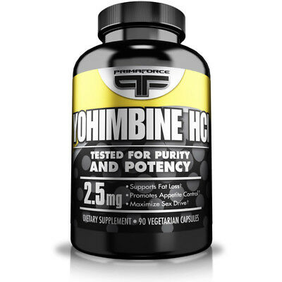 Primaforce Yohimbine HCL 2.5mg. Weight/Fat Loss/Burner 90 Caps. UK Based